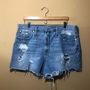 Madewell Ripped Jean Shorts Sz 32